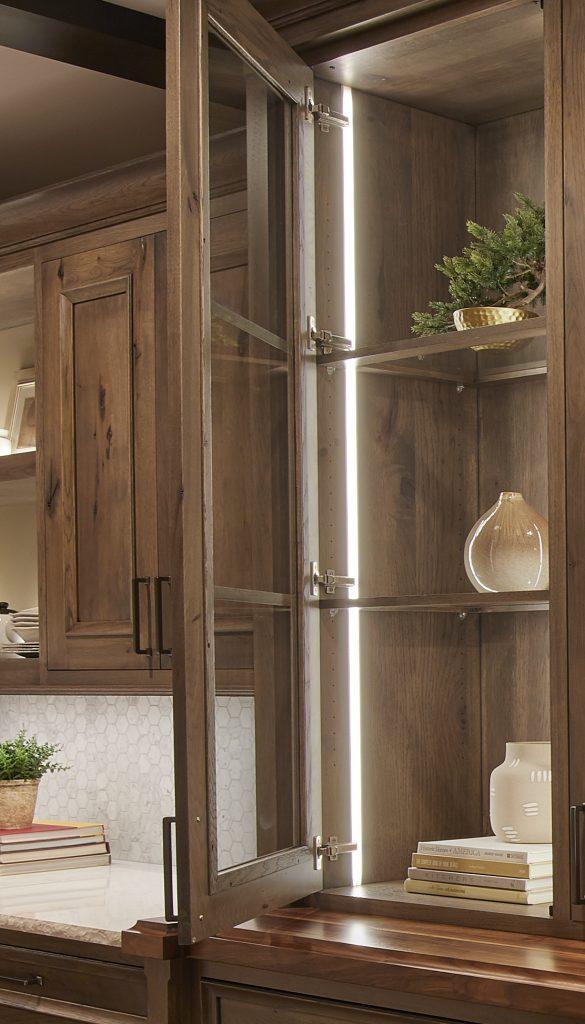 Lighted Frameless Cabinetry