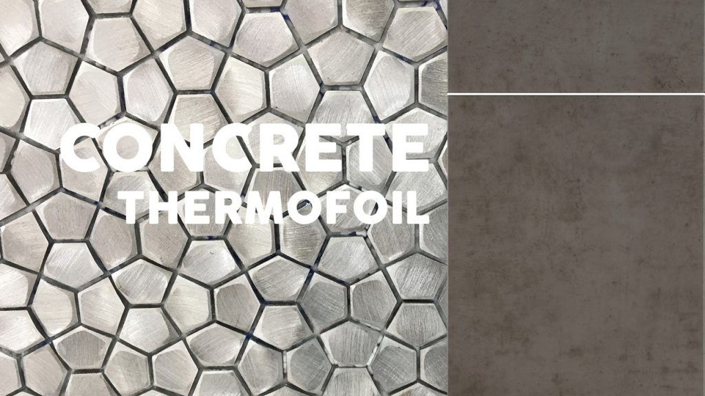 Concrete Thermofoil Textured Cabinets