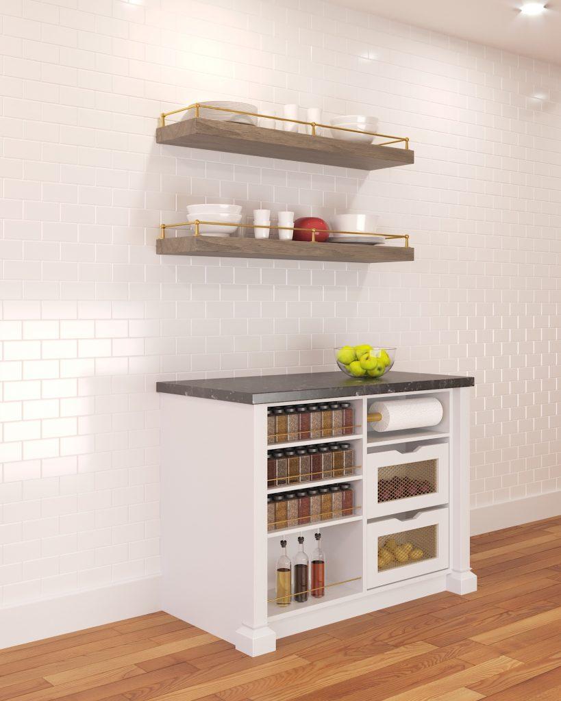 Brass Shelf Railing