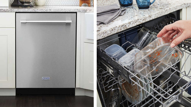 Dishwasher eliminates soaking, scrubbing, pre-rinsing