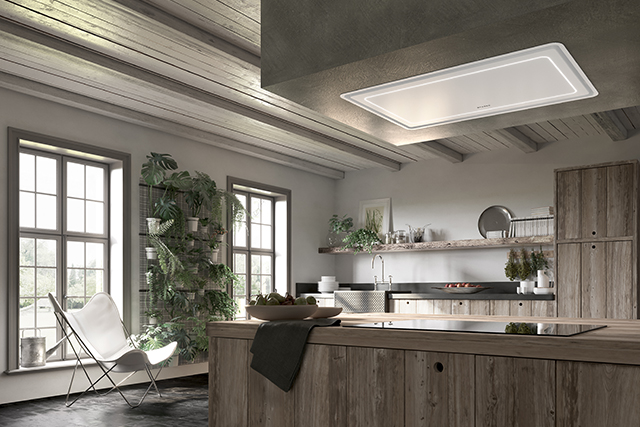 Ceiling hood helps remove impurities, reduce noise