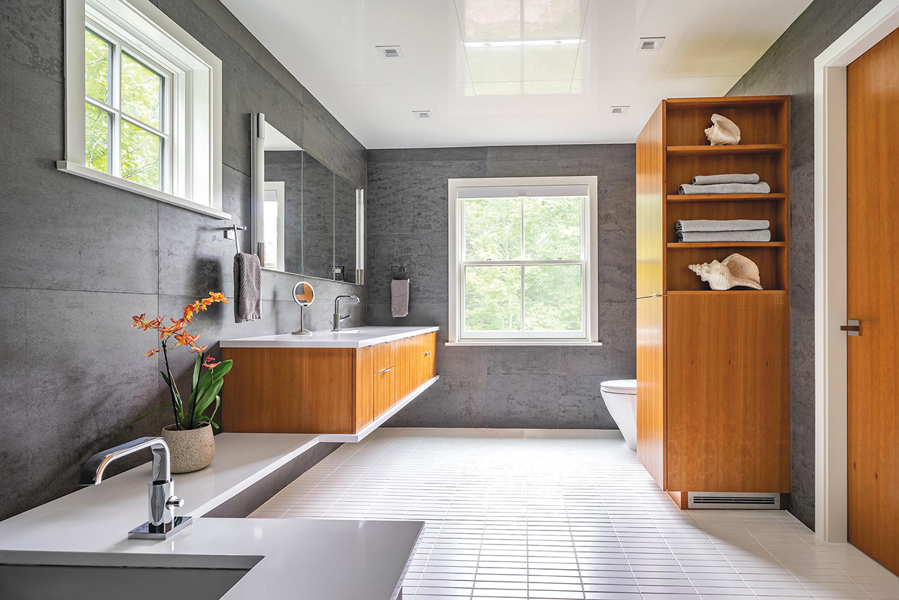 Wolf-Architects_2 Bathroom for S & G_looking east_Eric Roth Photo