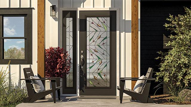Doorglass features clean lines, subtle color pops