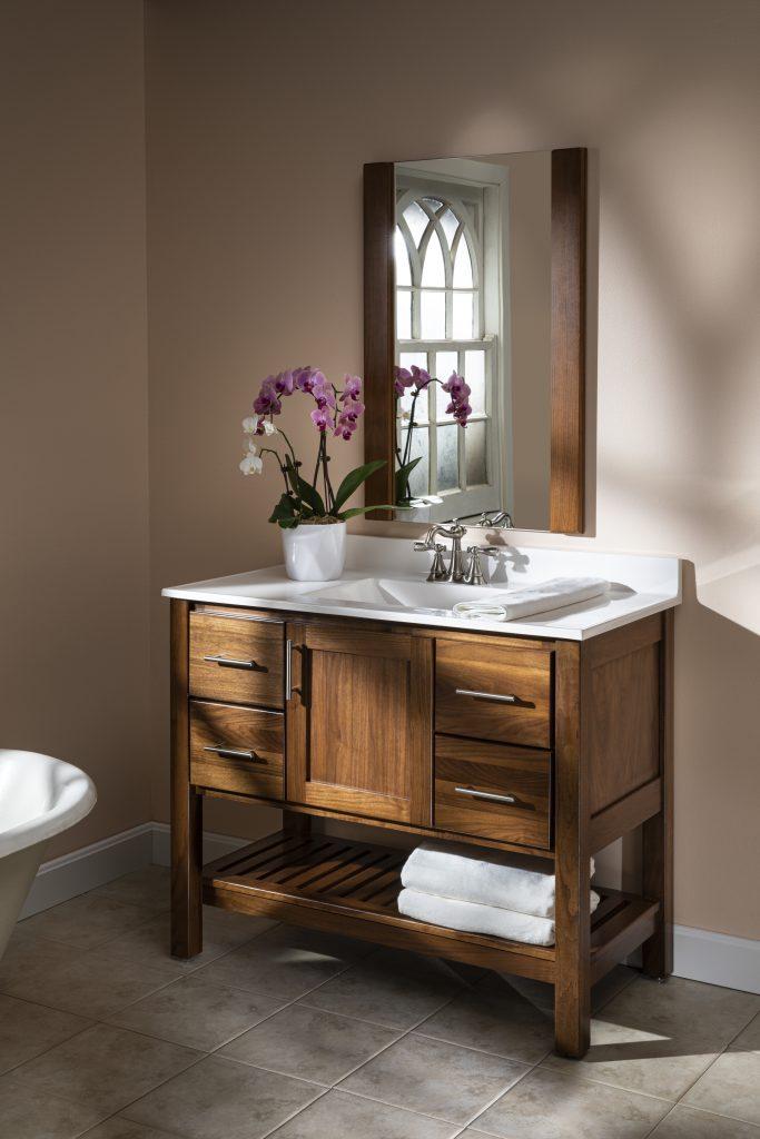 Walnut Bath Cabinets