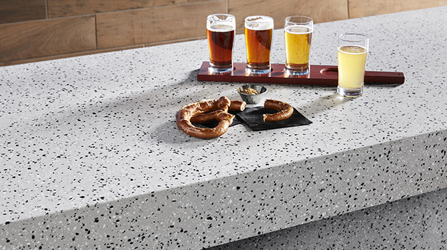 Solid-surfacing collection meets design demands
