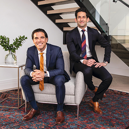Co-CEOs Asher Raphael and Corey Schiller. The duo played soccer at American University and joined the company in 2003. Their long partnership enables the unique co-CEO relationship to work well.