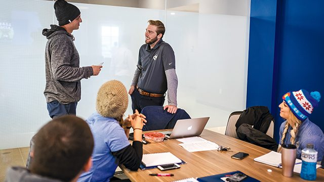 A team meeting at Power Home Remodeling Group's Denver office in 2019.