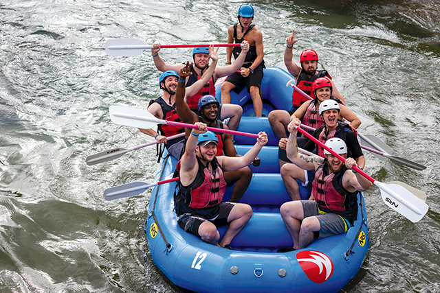 The Charlotte leadership team of Power Home Remodeling Group during a 2019 team-building experience.