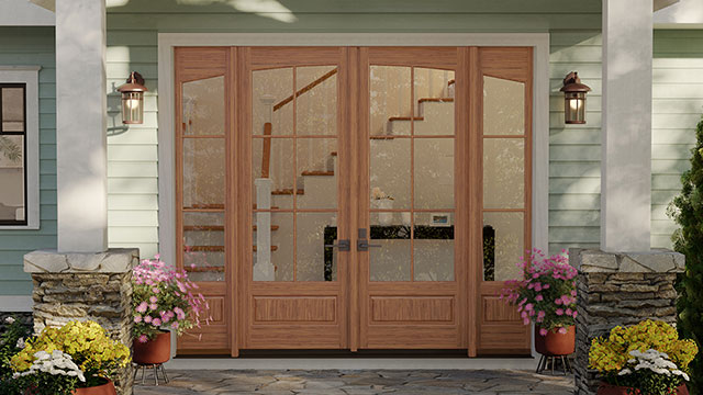 Entry doors set new standard for wood construction