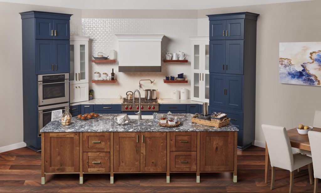 Royal Blue Cabinets