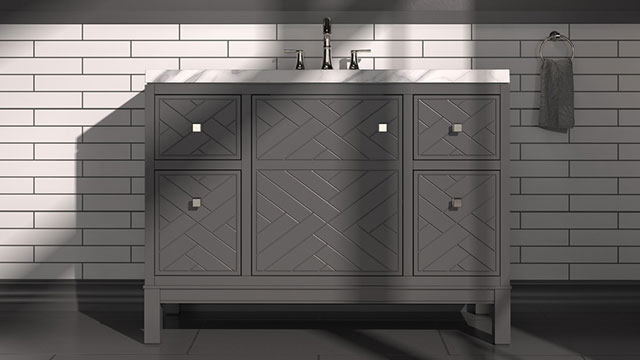 Vanity collections provide storage, personalization