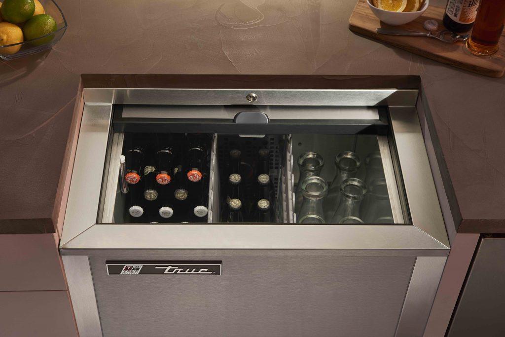 Slide-Top Beverage Refrigerator
