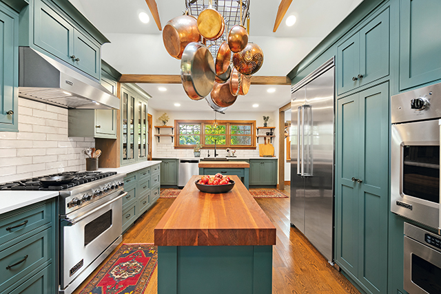 Kitchen Displays Unexpected Focal Point