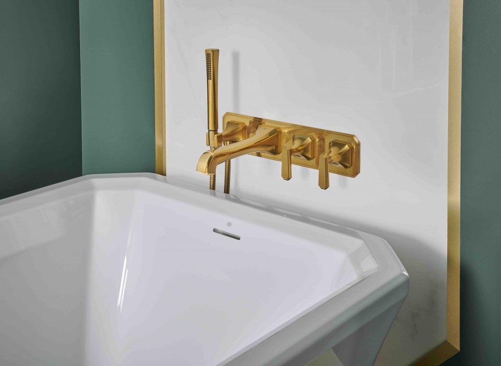 Art Deco Tub Filler