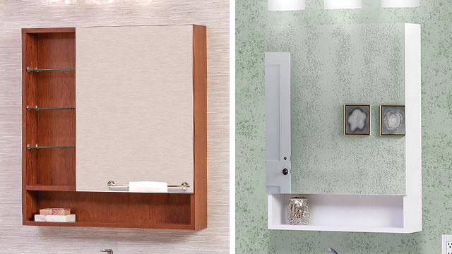 Medicine cabinets offer convenient bath storage
