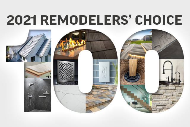 2021 Remodelers' Choice: 100 Most Requested Products