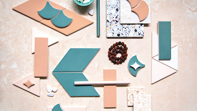 Tile collection features natural, earthy palette