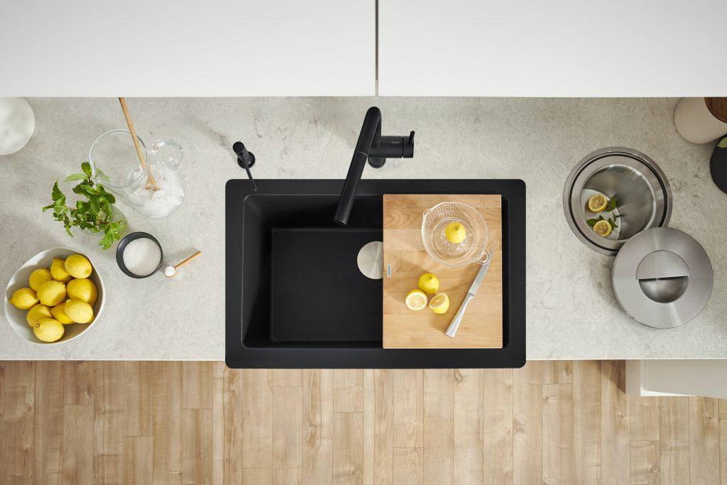 Matte Black Granite Composite Sink