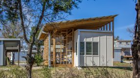 2021 AIA Small Project Awards: Community First! Village Micro House #710 by McKinney York Architects