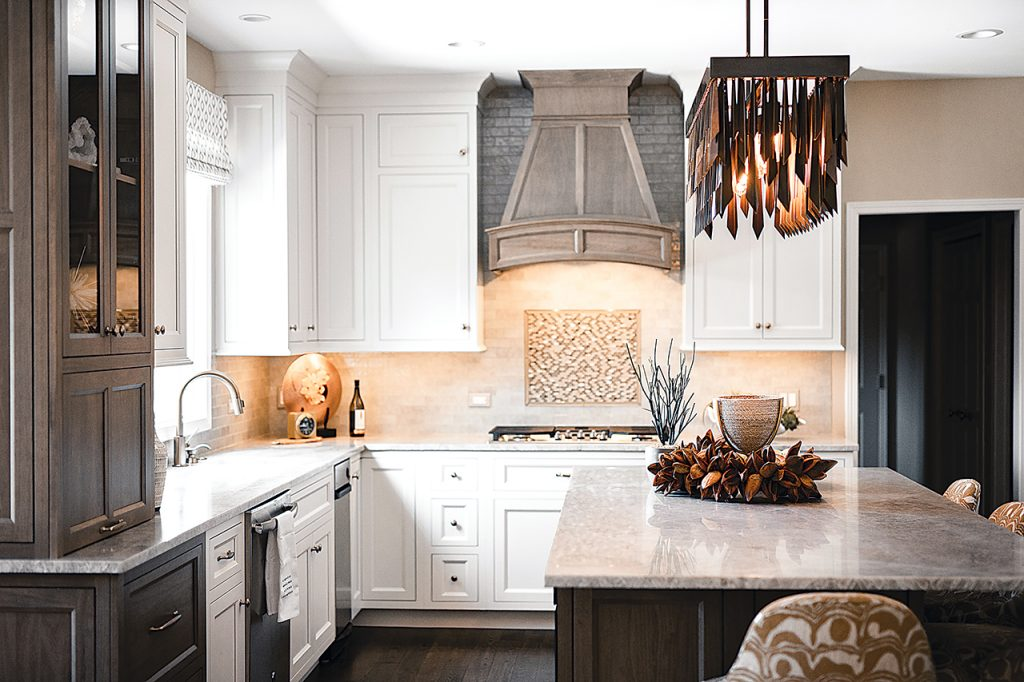 Kitchen Displays Fresh, Transitional Style