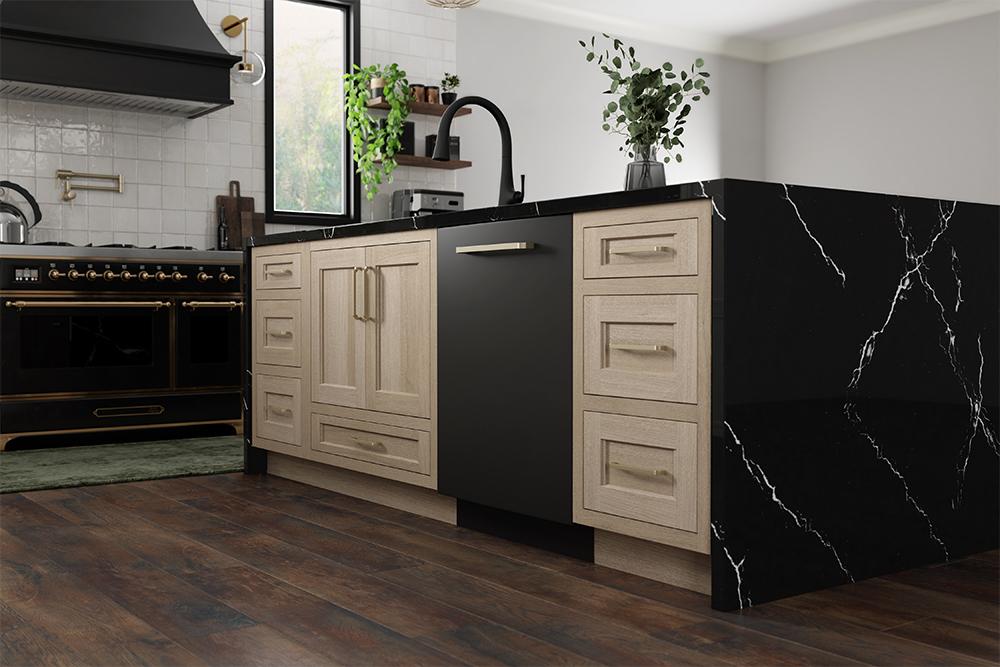 Quarter-Sawn Oak Cabinets